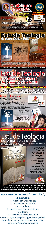 Promoção de Cursos Teológicos - Tempo Limitado - Apenas U$ 49.90