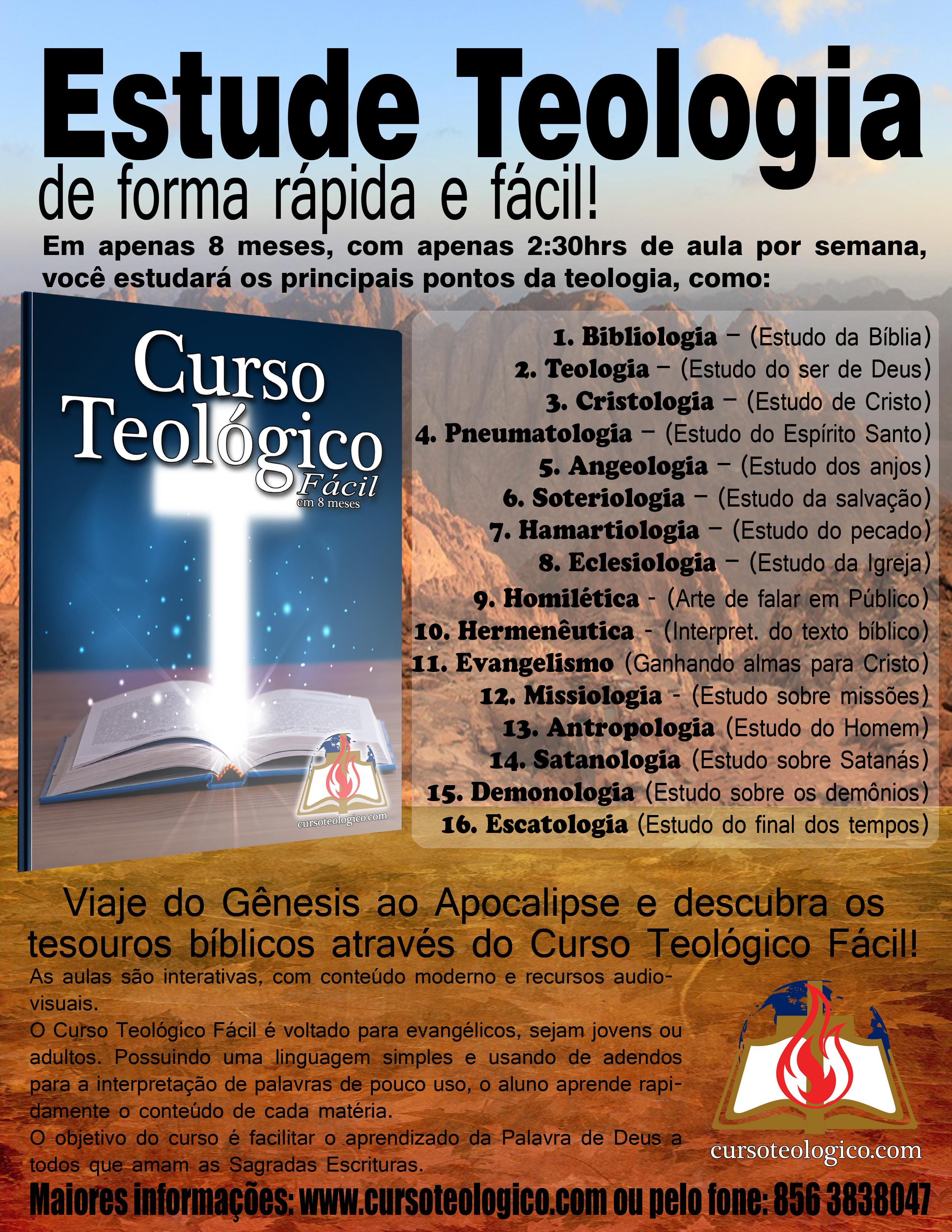 Curso Teológico Fácil - Eclesiologia I e II e Homilética I e II